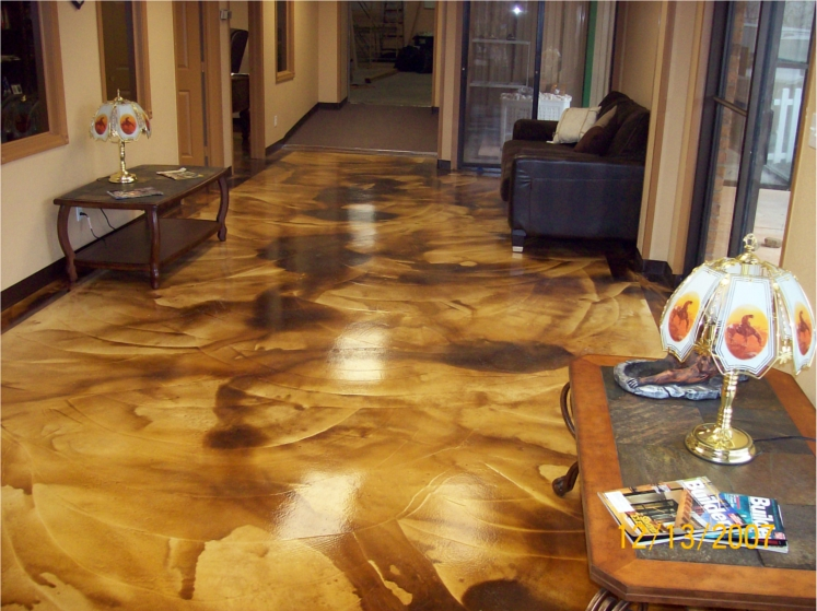 Acid wash artisticrete for Acid wash concrete floors